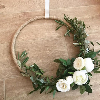 Floral hoops from Sunday's Wedding Fayre