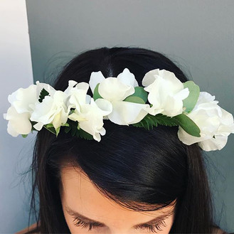 Sweet pea flower crown for yesterday's b
