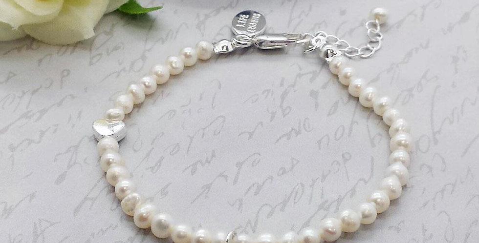 Thank You- Pearl & Horseshoe Bracelet