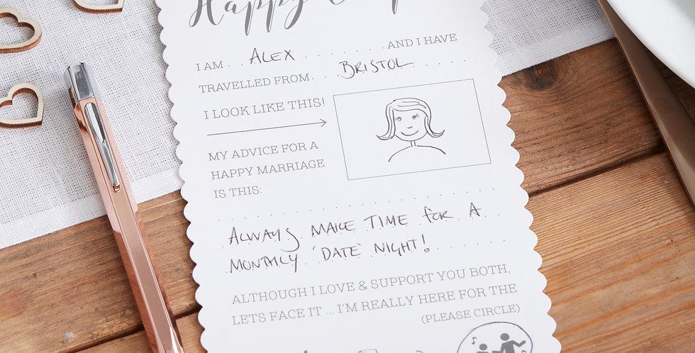 Advice For The Happy Couple Cards - Beautiful Botanics