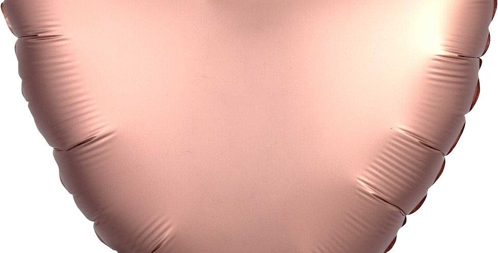 "Rose Gold Heart Satin 18"" Foil Balloon"