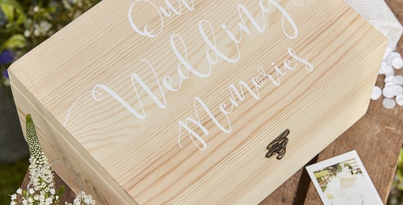 Wooden Memory Keepsake Box- Rustic Country