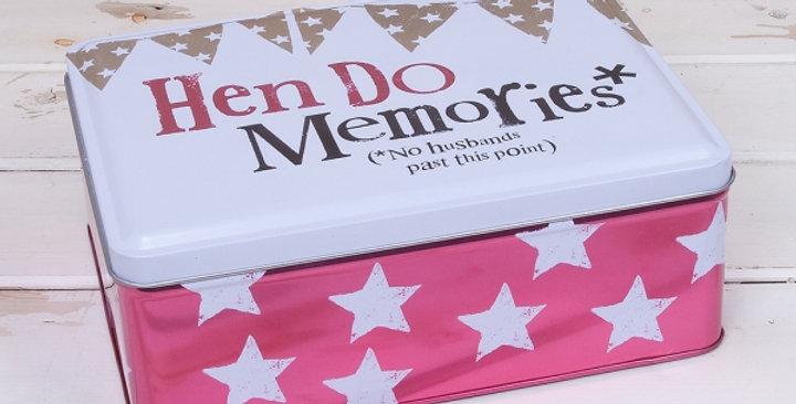 Hen Do Memories Tin