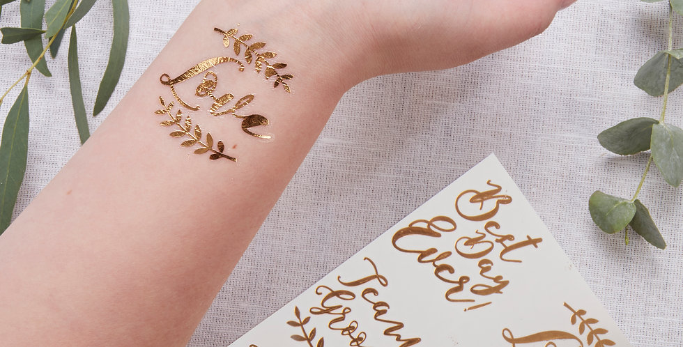 Rose Gold Temporary Wedding Tattoos - Beautiful Botanics