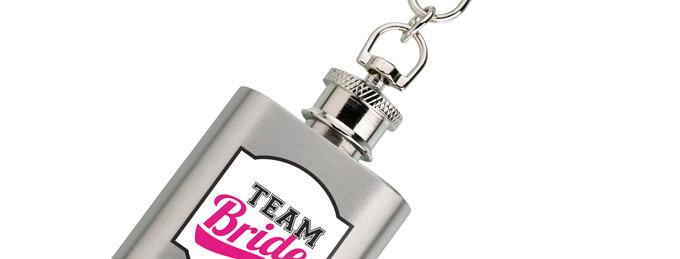 Mini Silver Flask Team Bride