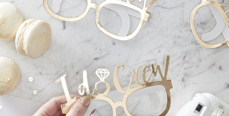 Gold Foiled I do Glasses- I Do Crew