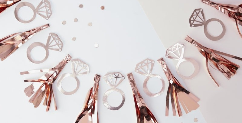 Rose Gold Foiled Ring Tassel Garland- Team Bride
