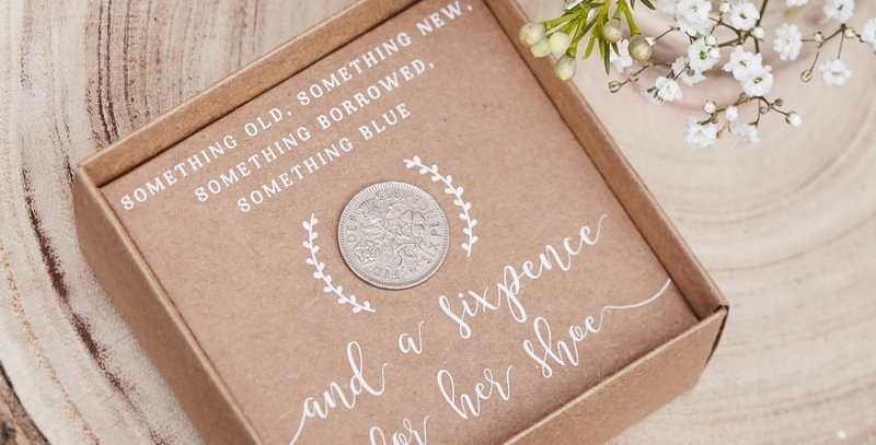 Lucky Six Pence Keepsake- Rustic Country