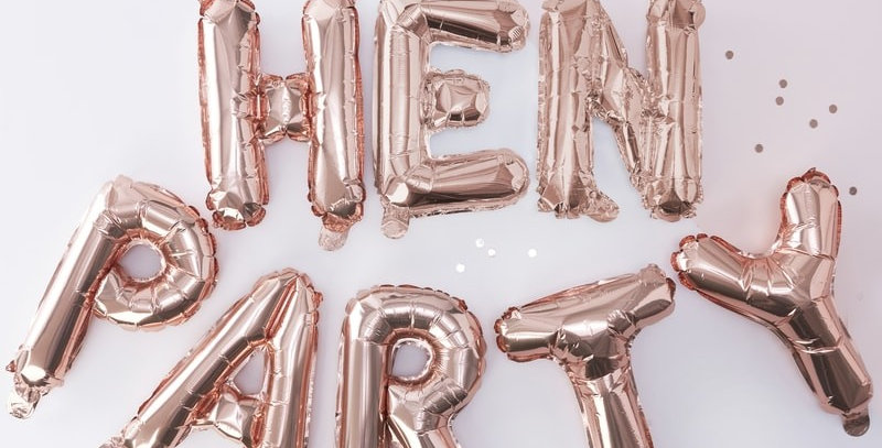 Rose Gold Hen Party Balloon Bunting - Team Bride