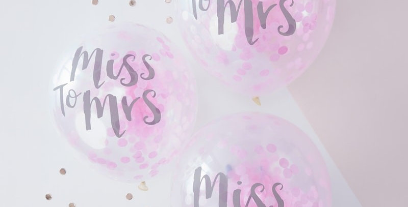 Miss To Mrs Printed Confetti Balloons- Team Bride