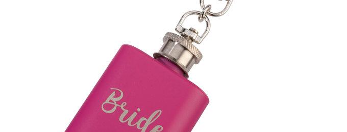 Mini Pink Flask Bride