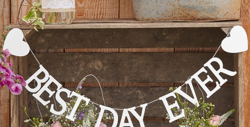 Best Day EverWooden Bunting- Rustic Country