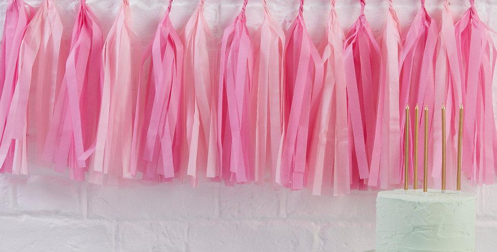Pink Hanging Tassel Garland Kit - Pick & Mix