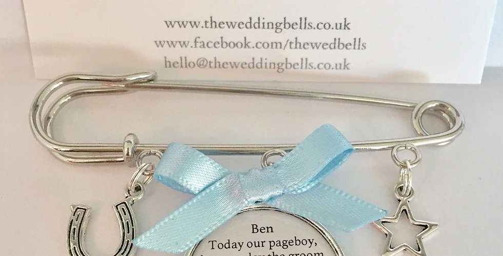 Pageboy Pin Charm Keepsake