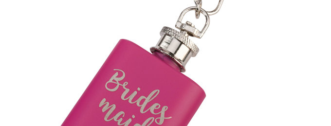 Mini Pink Flask Bridesmaid