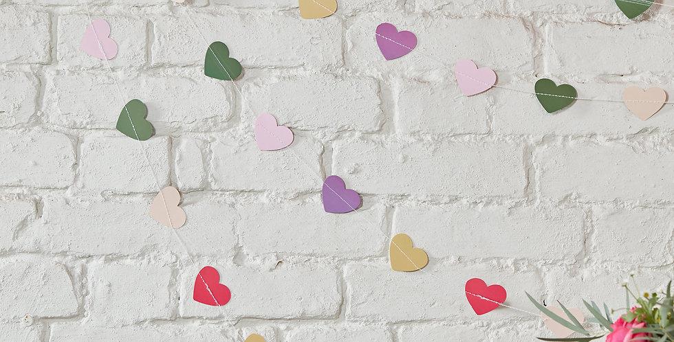 Colourful Heart Backdrop - Boho