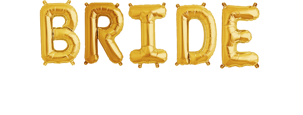 Gold Bride Balloon Banner