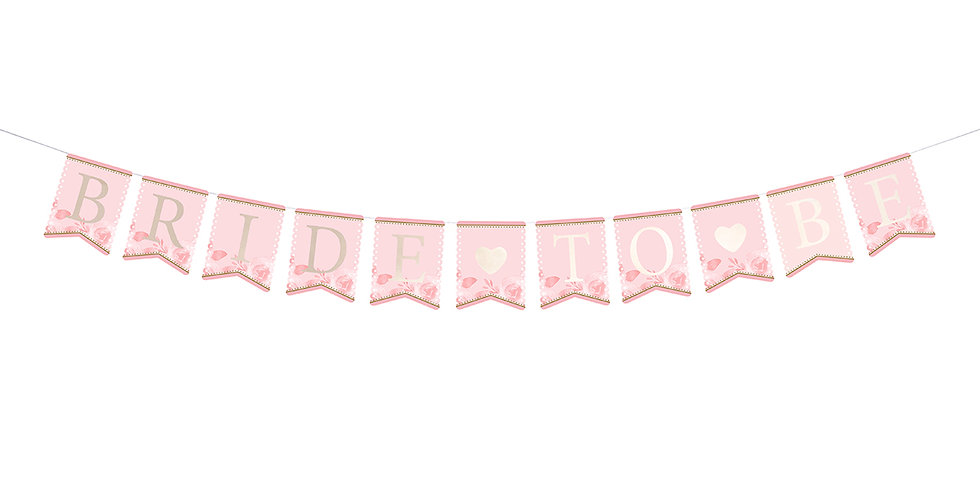 Lillian Rose Pink and Gold Bride-To-Be Bunting