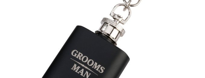 Mini Black Flask Groomsman