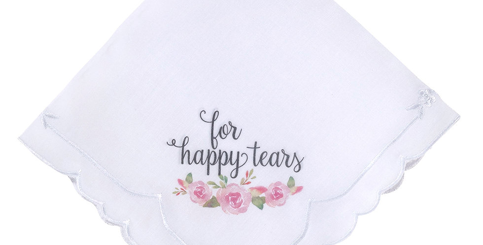 Lillian Rose Watercolor Floral Happy Tears Keepsake Hankie
