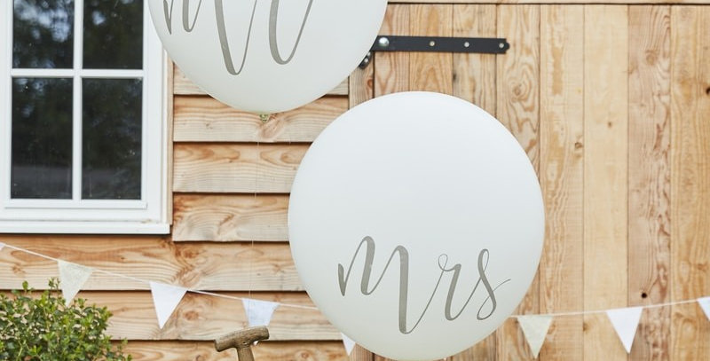 Huge Mr and Mrs Balloons- Rustic Country