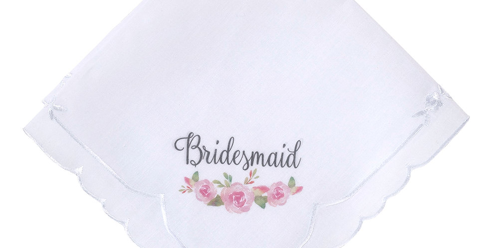 Lillian Rose Watercolor Floral Bridesmaid Keepsake Hankie