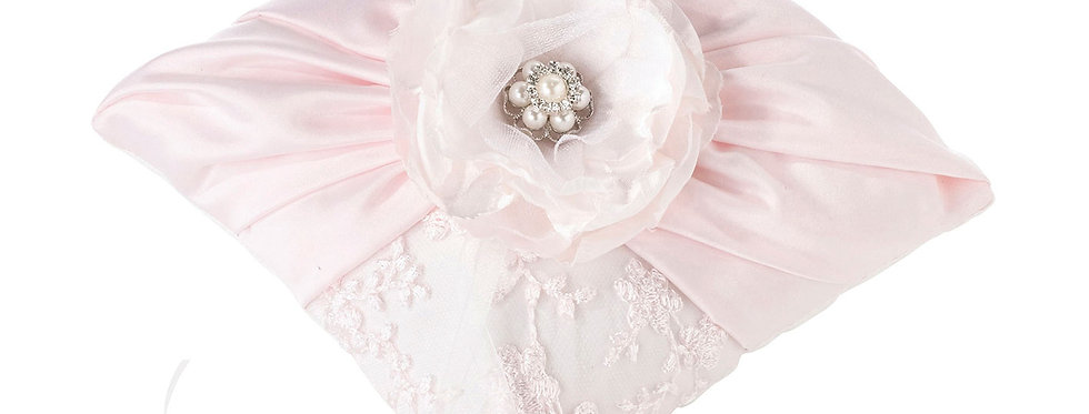 Lillian Rose Vintage Blush Rhinestone Ring Pillow