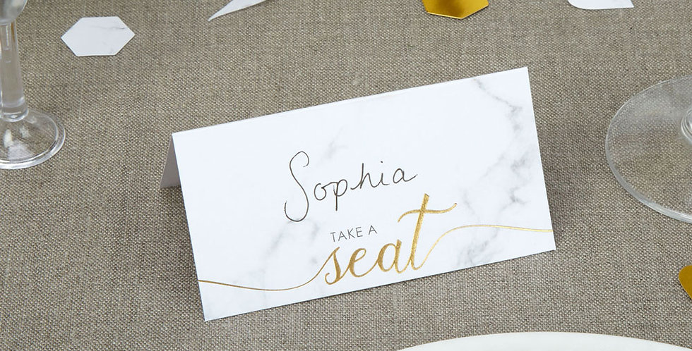 Scripted Marble - Place Cards