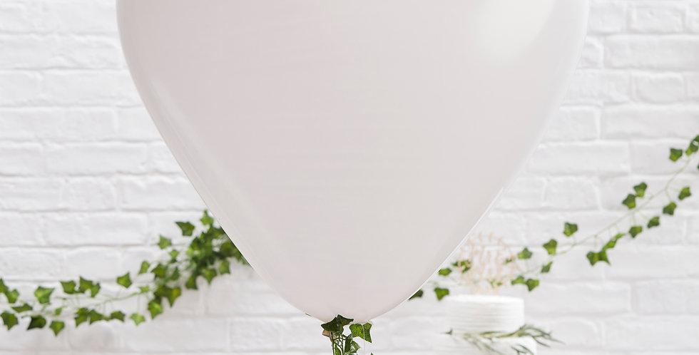 Large White Heart Balloons - Beautiful Botanics