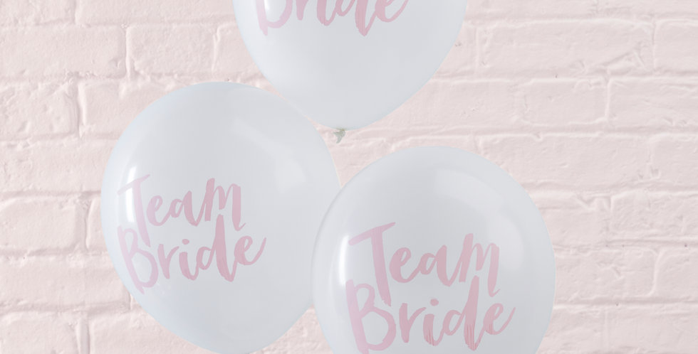 Pink & White Hen Party Balloons - Team Bride