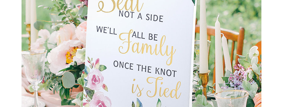 Watercolour Wedding Ceremony Seating Sign