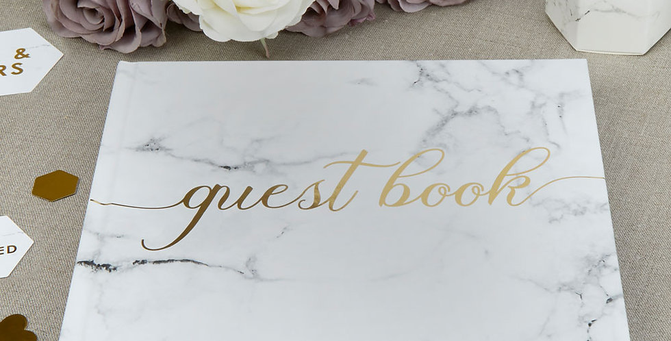 Scripted Marble - Guest Book