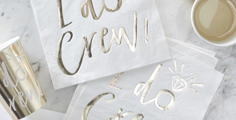 Gold Foiled I do Napkin- I Do Crew