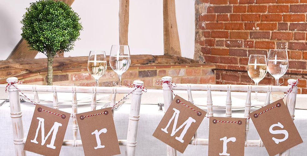 Just My Type - Chair Bunting - Mr and Mrs