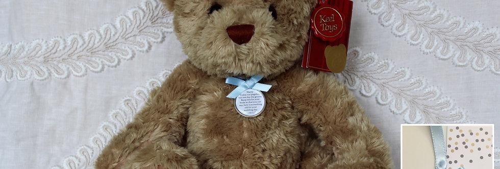 Pageboy Usher Ring bearer 'Sherwood' Teddy Bear with Charm