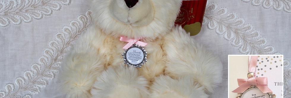 Flower Girl Bridesmaid 'Meghan' Teddy Bear with Charm