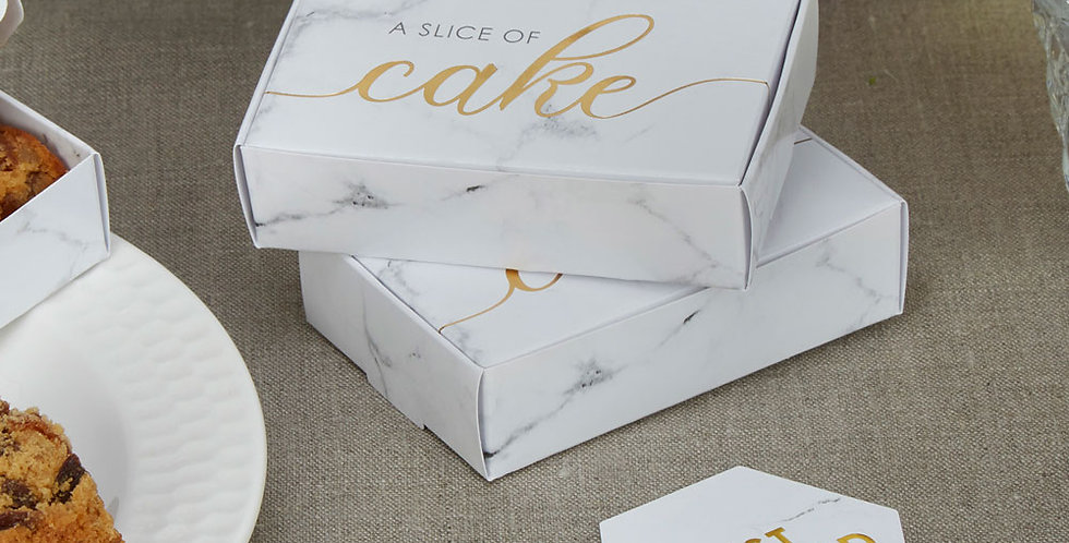 Scripted Marble - Cake Box
