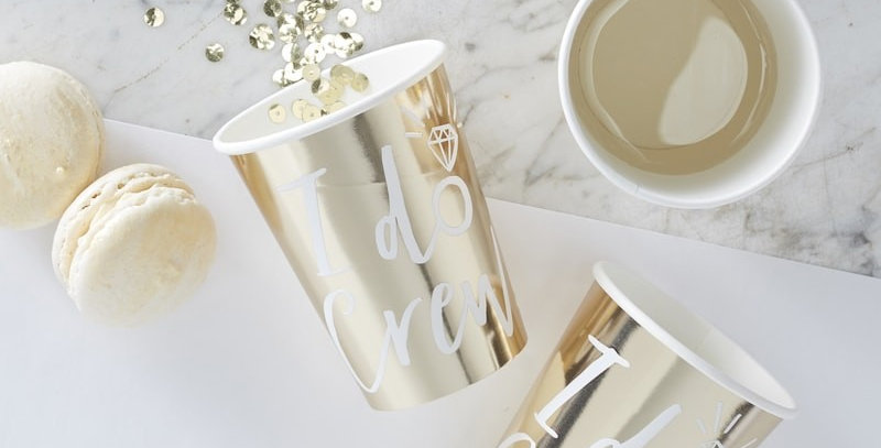 Gold Foiled I Do Crew Paper Cup- I Do Crew
