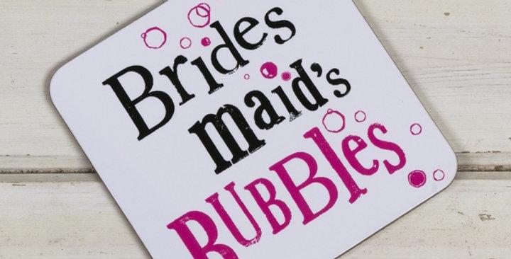 Bridesmaid's Bubbles Coaster