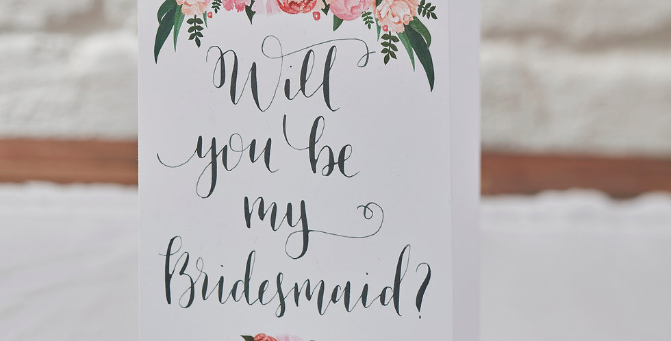 Will You Be My Bridesmaid Cards - Boho