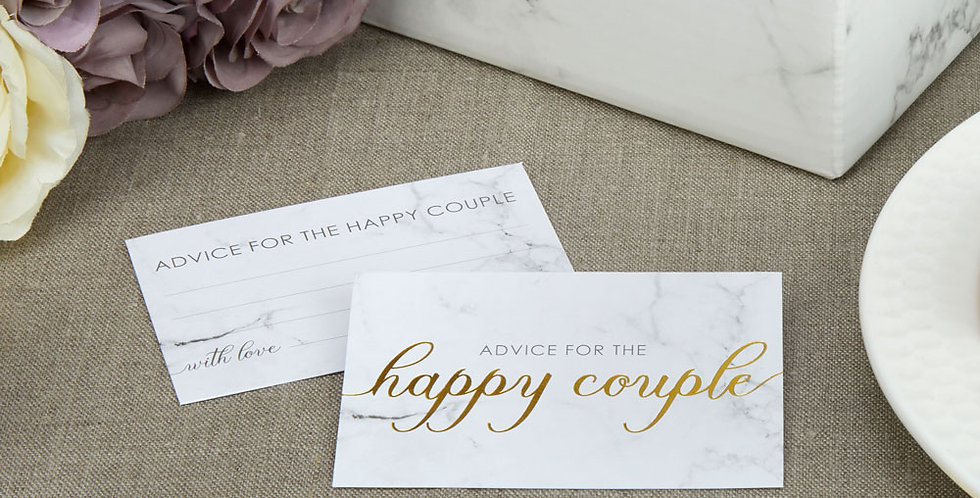Scripted Marble - Wedding Wishes Cards