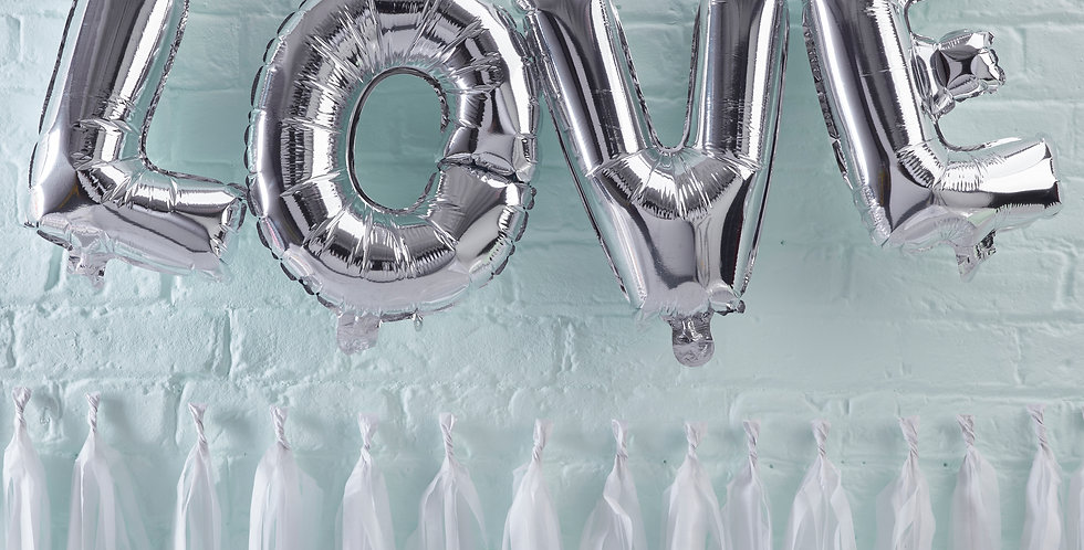 Silver Love Balloon Bunting - Pick & Mix