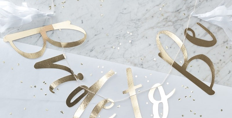 Gold Foiled Bride To Be Bunting- I Do Crew