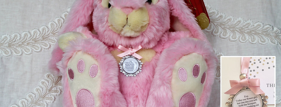 Flower Girl Bridesmaid 'Maisie' Bunny with Charm