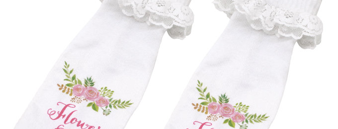 Flower Girl Socks