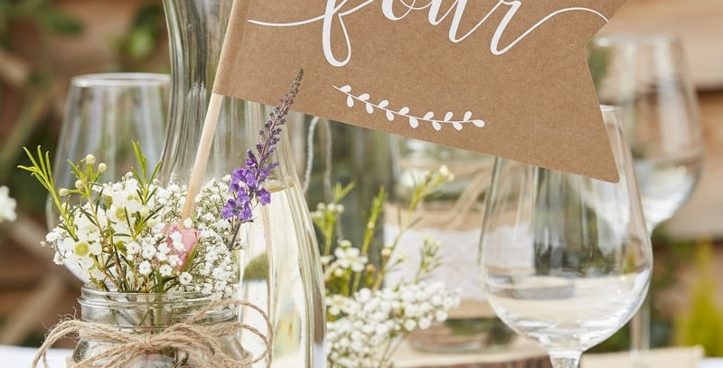 Table Number Flags- 1-12 Rustic Country