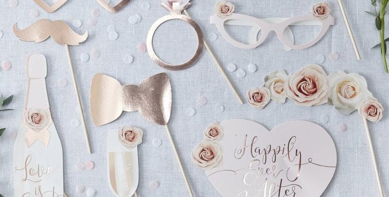 Wedding Photo Booth Props- Beautiful Botanics