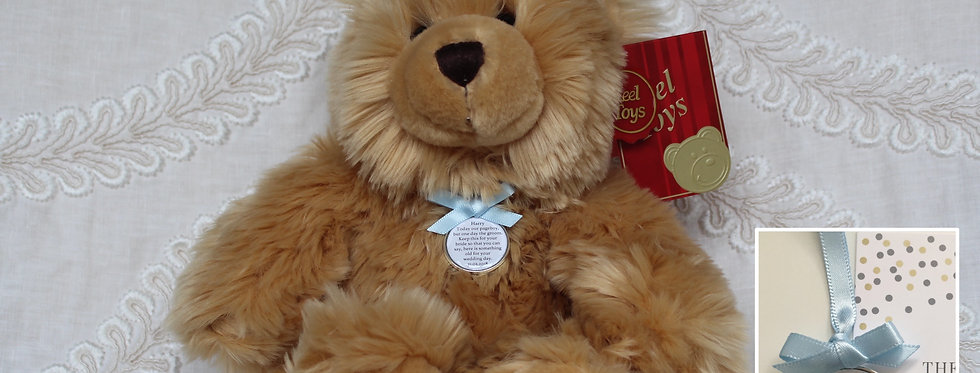 Pageboy Usher Ring bearer 'Harry' Teddy Bear with Charm