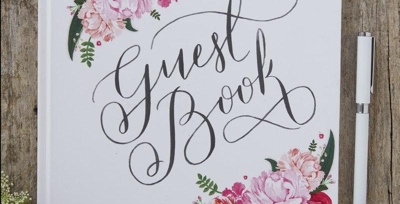 Flora Guest Book- Boho
