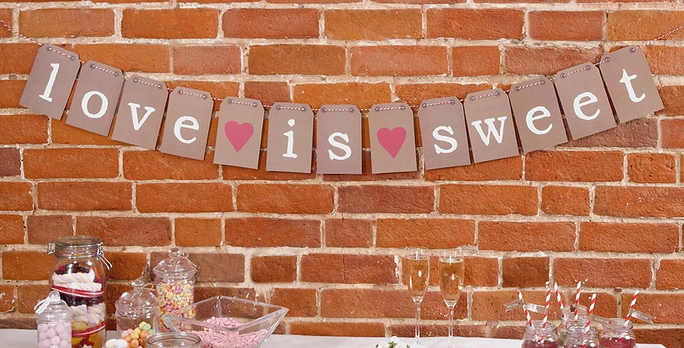 Just My Type - Candy Buffet Bunting